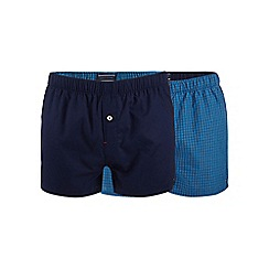 Tommy Hilfiger - Pack of two checked blue boxers in a gift box
