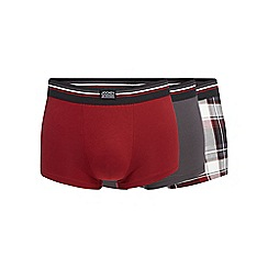 Jockey - Pack of three assorted cotton stretch trunks