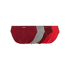 The Collection - Big and tall pack of four red and grey plain and patterned slips
