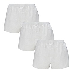 The Collection - Big and tall pack of three white boxer briefs