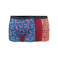 Mantaray - Pack of three multi-coloured palm tree print boxers
