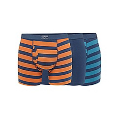 Mantaray - Big and tall big and tall pack of three orange striped print trunks