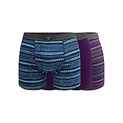 Mantaray - Pack of three assorted striped hipster trunks