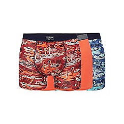 Mantaray - Big and tall pack of three assorted beach print trunks