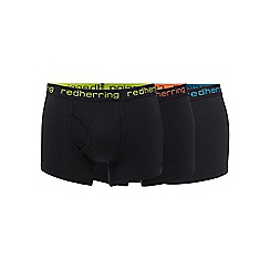 Red Herring - Pack of three black keyhole trunks