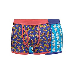 Red Herring - Pack of two animal print trunks