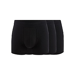 Hammond & Co. by Patrick Grant - Big and tall pack of three black hipster trunks