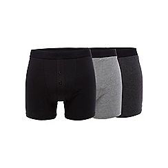 Hammond & Co. by Patrick Grant - Big and tall pack of three grey modal® blend boxers