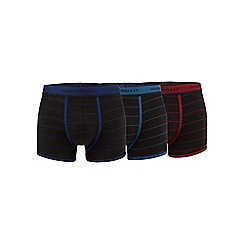 Hammond & Co. by Patrick Grant - Big and tall pack of three black stripe hipster trunks