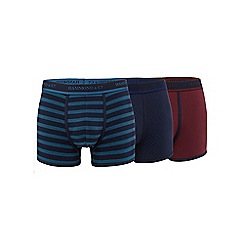 Hammond & Co. by Patrick Grant - Big and tall pack of three assorted patterned hipster trunks