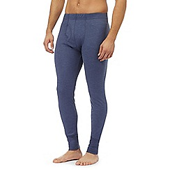 Maine New England - Big and tall blue brushed thermal bottoms