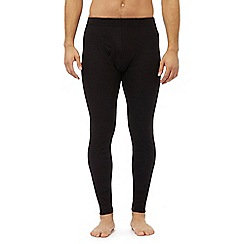 Maine New England - Black brushed thermal bottoms