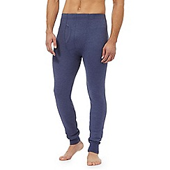 Maine New England - Big and tall big and tall blue brushed thermal bottoms