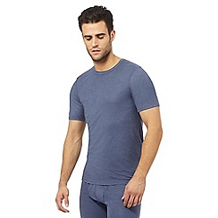 Maine New England - Blue brushed thermal t-shirt