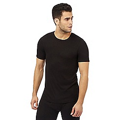 Maine New England - Big and tall black brushed thermal t-shirt