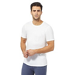 Maine New England - Big and tall white brushed thermal t-shirt
