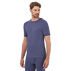Maine New England - Blue short sleeved thermal shirt