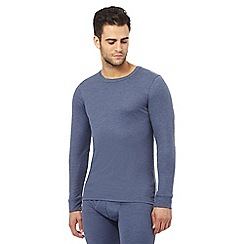 Maine New England - Blue brushed thermal long sleeved top