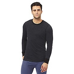 Maine New England - Black brushed thermal long sleeved top