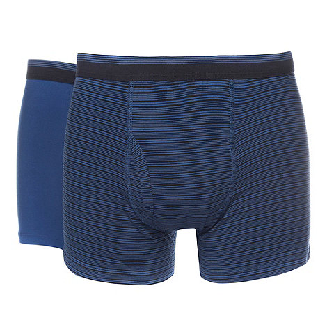 Thomas Nash - Pack of two blue striped jersey keyhole trunks