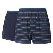 Pack of two blue buttoned boxer shorts