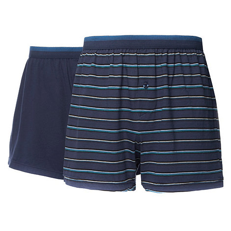 Thomas Nash - Pack of two blue buttoned boxer shorts