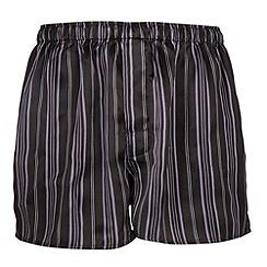 Thomas Nash - Black multi striped silk boxers