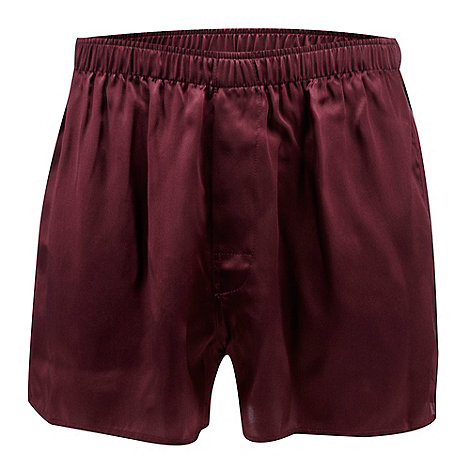 Thomas Nash - Wine silk boxers