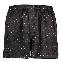 Thomas Nash - Black spotted silk boxers