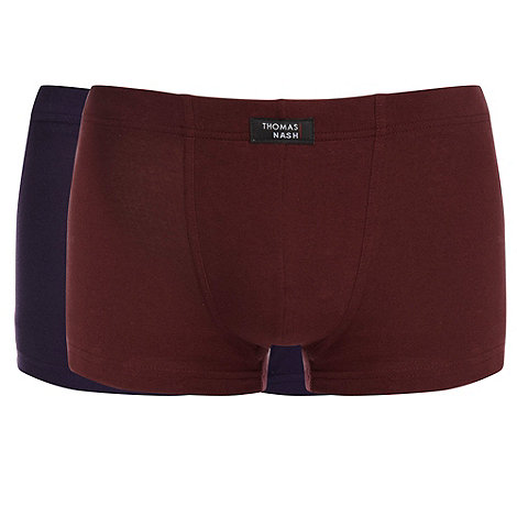 Thomas Nash - Pack of two black wine and purple hipster trunks