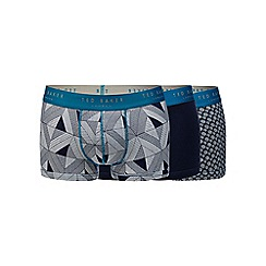 Ted Baker - Pack of three navy blue fitted boxers