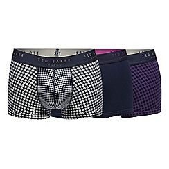 Ted Baker - Pack of three assorted spot print boxers
