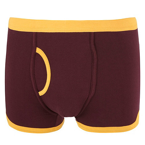 Red Herring - Dark red contrast trim trunks