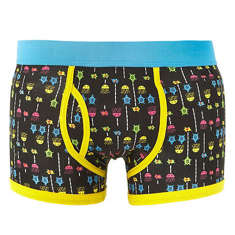 Red Herring - Black ocean game keyhole trunks