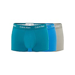 Calvin Klein - Pack of three grey cotton stretch trunks