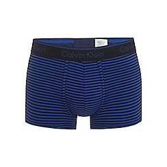 Calvin Klein - Blue 'Classic Stripe' trunks