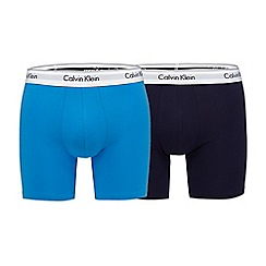 Calvin Klein - Pack of two blue and black body defining boxers