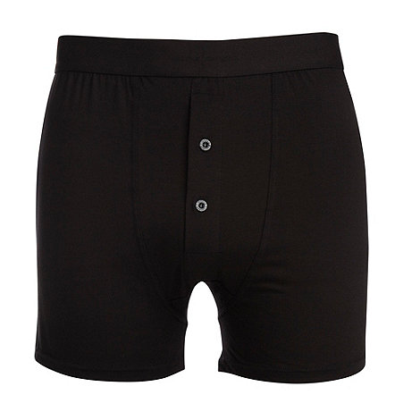 J by Jasper Conran - Designer black cotton modal button boxers