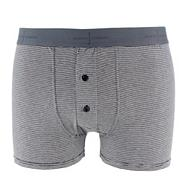 Designer blue fine striped button boxers