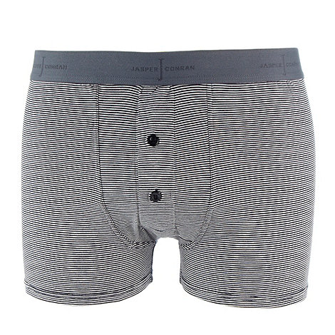 J by Jasper Conran - Designer blue fine striped button boxers