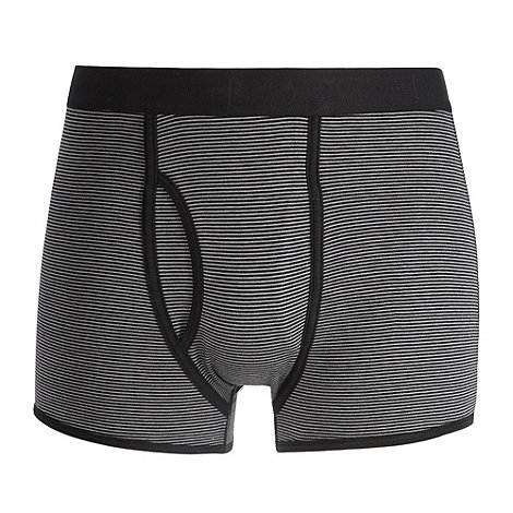 J by Jasper Conran - Designer grey fine striped keyhole trunks