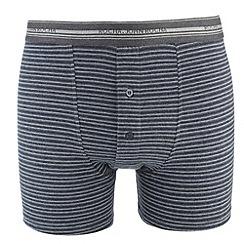 RJR.John Rocha - Designer blue fine striped cotton stretch boxers