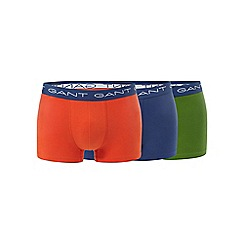 Gant - Pack of three assorted cotton stretch trunks