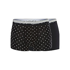 Gant - Two pack of black dotted print trunks