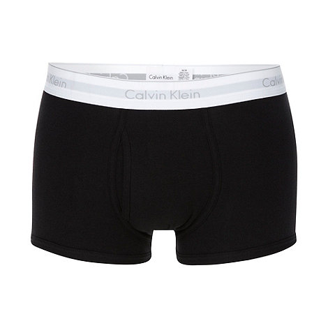 Calvin Klein - Black cotton stretch +Heritage+ trunks