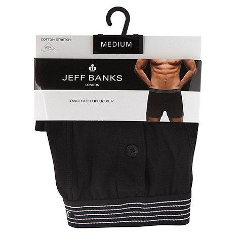 Jeff Banks - Designer black button fly boxers