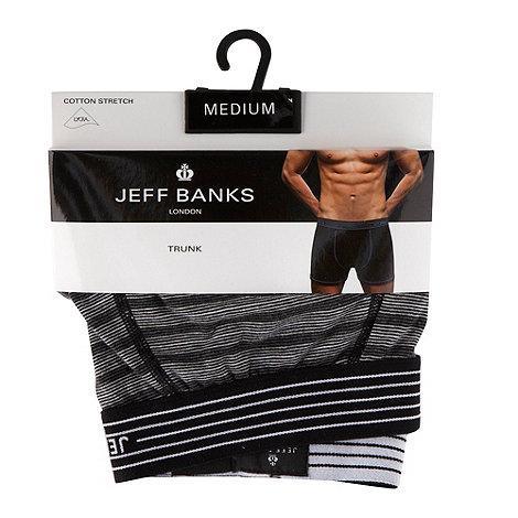 Jeff Banks - Designer grey monochrome striped trunks
