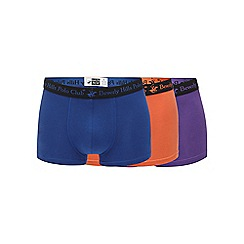 Beverly Hills Polo Club - Multi-coloured pack of three hipster trunks