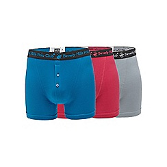Beverly Hills Polo Club - Pack of three multi-coloured boxer briefs
