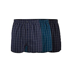 Hammond & Co. by Patrick Grant - Big and tall pack of three multi-coloured check print boxer shorts